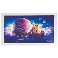 Epcot & Tokyo Disneyland 25th Anniversary Print.