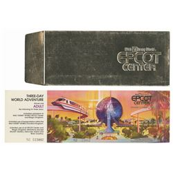 Epcot Center Three-Day World Adventure Ticket.