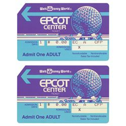 Pair of Epcot Center Magnetic Admission Tickets.