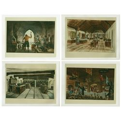 Set of (4) World Showcase Concept Art Photos.