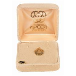 14k Gold Epcot Logo Charm.