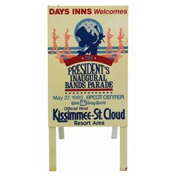 President's Inaugural Band Parade Folding Sign.