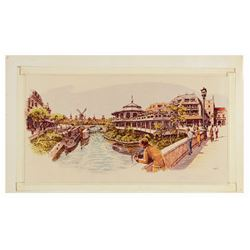 Harper Goff Thames River Ride Concept Art Print.