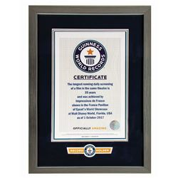 France Pavilion Guinness World Records Certificate.