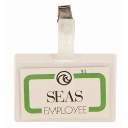 The Living Seas Employee Badge.