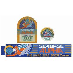 Set of (3) The Living Seas Souvenirs.