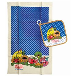 Kitchen Kabaret Potholder & Dish Towel.