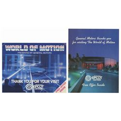 Pair of World of Motion Brochures.