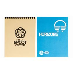Pair of Epcot Center & Horizons Booklets.