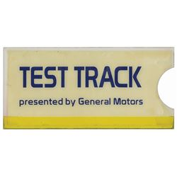 Test Track General Motors Sign.