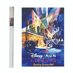Disney-MGM Studios Pre-Opening Poster.