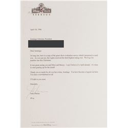 Signed Spectacle of Dancing Lights Letter.