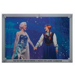 A Frozen Sing-Along Celebration Construction Sign.