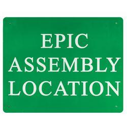 Indiana Jones Epic Stunt Spectacular! Assembly Sign.