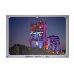 The Twilight Zone Tower of Terror Construction Sign.