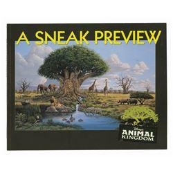 """A Sneak Preview"" Animal Kingdom Book."