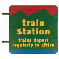 Animal Kingdom Train Station Sign.