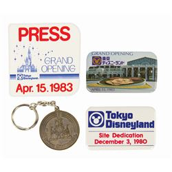 Set of (4) Tokyo Disneyland Grand Opening Items.