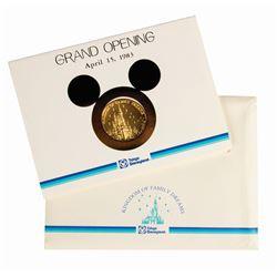 Tokyo Disneyland Grand Opening Employee Medallion.