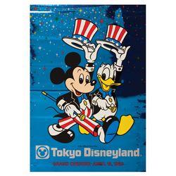 Tokyo Disneyland Grand Opening Metallic Poster.