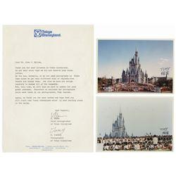 Pair of Tokyo Disneyland Photos & Letter.