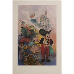 Tokyo Disneyland 5 Years Charles Boyer Print & Letter.