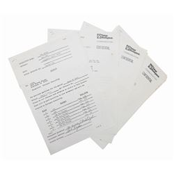 Lot of (13) Tokyo Disneyland Big Thunder Invoices.