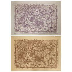 Pair of Tokyo DisneySea Concept Maps.