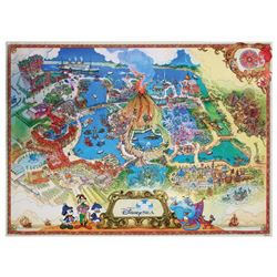 Tokyo DisneySea Imagineering Map.