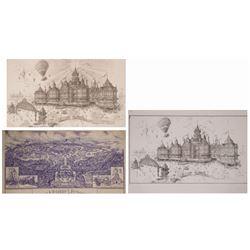 Set of (3) of Disneyland Paris Jim Michaelson Concepts.