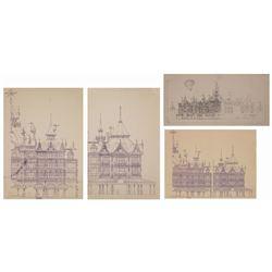 Set of (4) Disneyland Paris Jim Michaelson Concepts.