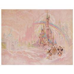 Signed Disneyland Paris Grand Opening Print.