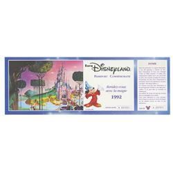 Euro Disney Commemorative Passport.