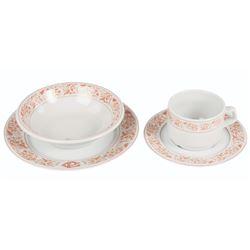 Set of (4) Plaza Gardens Ceramic Dishes.