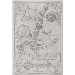 Original Orbitron Attraction Poster Concept Drawing.