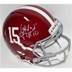 AJ McCarron Signed Alabama Full-Size Authentic Pro-Line Speed Helmet (Radtke COA)