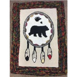 Authentic Anthony Weatherby Polar Bear First Nation Hand Hooked Rug