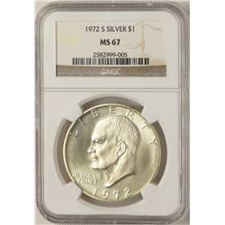1972-S $1 Eisenhower Silver Dollar Coin NGC MS67