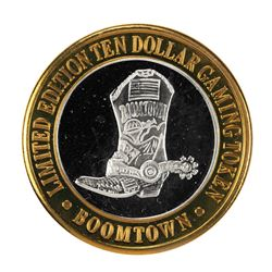 .999 Fine Silver Boomtown Reno, Nevada $10 Limited Edition Gaming Token