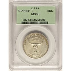 1935 Spanish Trail Commemorative Half Dollar Coin PCGS MS65 Old Green Holder