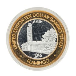 .999 Fine Silver Flamingo Casino Las Vegas, NV $10 Limited Edition Gaming Token
