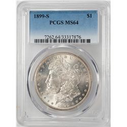 1899-S $1 Morgan Silver Dollar Coin PCGS MS64