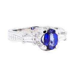 18KT White Gold 1.36 ctw Sapphire and Diamond Ring