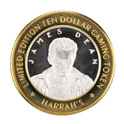 .999 Fine Silver Harrahs Casino Lake Tahoe, Nevada $10 Limited Edition Gaming Token