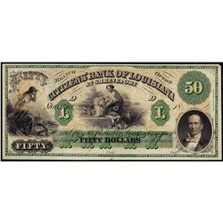 1800's $50 Citizens Bank of Louisiana Obsolete Bank Note
