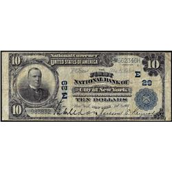1902PB $10 First NB of City of New York, NY CH# 29 National Currency Note