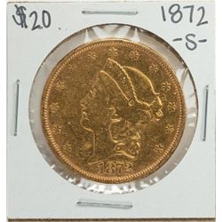 1872-S $20 Liberty Head Double Eagle Gold Coin