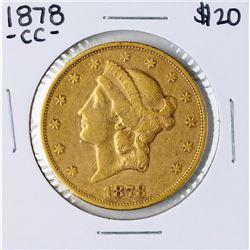 1878-CC $20 Liberty Head Double Eagle Gold Coin