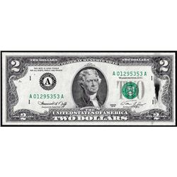 1976 $2 Federal Reserve Note Ink Smear ERROR