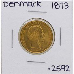 1873 Denmark Christian IX 20 Kroner Mermaid Gold Coin